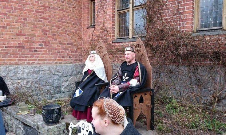 Nordmarks furstepar vid Drachenwalds kronturnering 2 april 2016