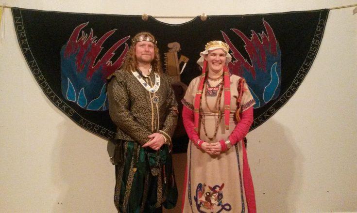 Masters of Defence Æiríkr ínn Hárfagri tar här Anna von Urwald som sin scollar vid Frostheims Norrskensfest a