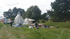 Bild 3 - Lägret växer fram - MTV 2016-08-06