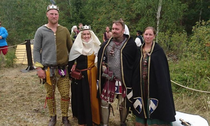 Nordmarks tan Bjaere och tanista Maria med Nordmarks furst Ludvig och furstinna Blenda - MTV 20160808 - Foto Åsa Fredriksdotter